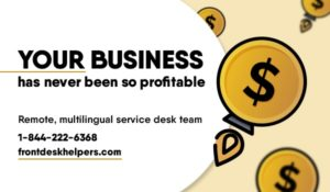 Remote multilingual support service Frontdeskhelpers Virtual office Call center Outbound calls