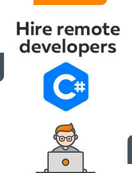 Here you can hire remote developers who are working on С# technology