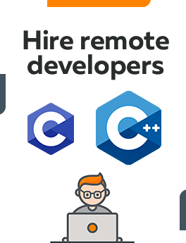 here you can hire remote developers who are working on C and C++ technologies