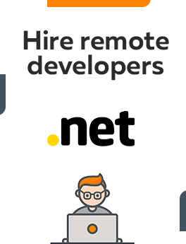 Here you can hire remote developers who are working on .Net (dot Net) technology