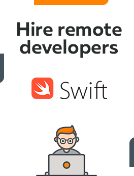 Here you can hire remote developers who are working on Swift technology