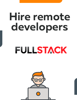 Here you can hire remote developers who are working on full-stack technology