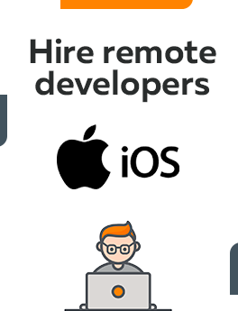 Here you can hire remote developers who are working on iOS technology