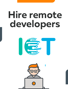 Here you can hire remote developers who are working with IoT
