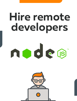 Here you can hire remote developers who are working on NodeJS