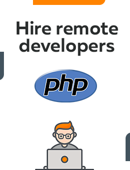 Here you can hire remote developers who are working on PHP