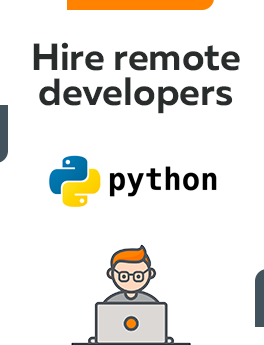 Here you can hire remote developers who are working on Python technology