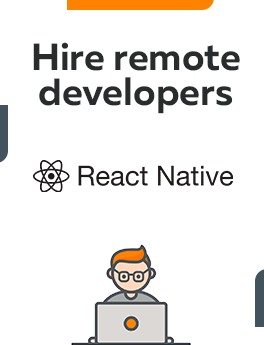 Here you can hire remote developers who are working on React Native technology