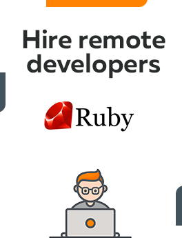 Here you can hire remote developers who are working on Ruby technology