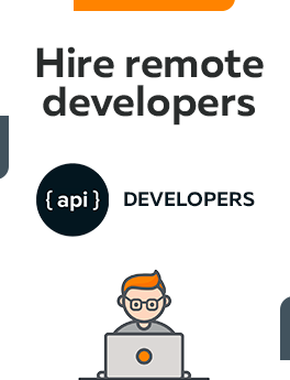 Here you can hire remote API developers