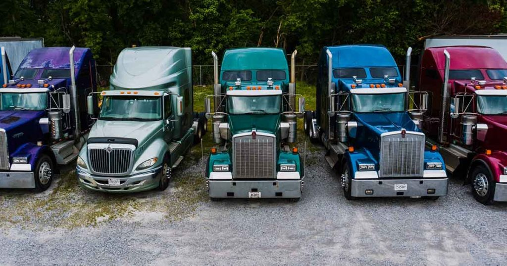 fleet of trucks for Courier and Delivery Business